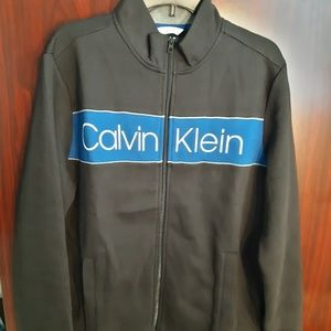 Calvin klein black and purple zip up size large